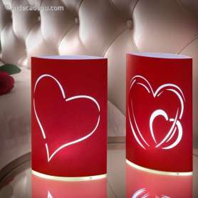 Paire de lampions romantiques