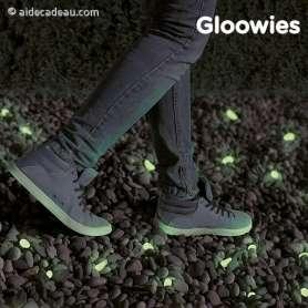Galets décoratifs verts fluorescents