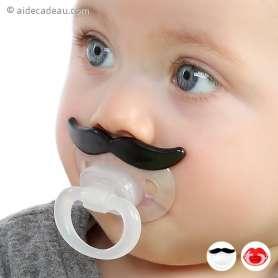 Tétine Moustache en Silicone pour bébé