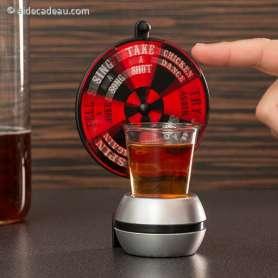 Roulette à boire avec verre