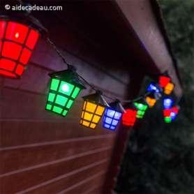 Guirlande de lampions 20 LED colorées