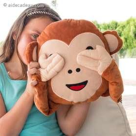 Coussin-oreiller émoticône Monkey singe