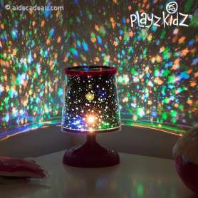 Lampe de chevet à projection de ciel à étoiles multicolores veilleuse