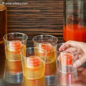 Verres pour cocktails originaux à deux récipients