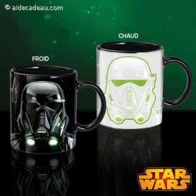 Tasse Dark Vador et Stormtrooper thermoréactive à 2 visages