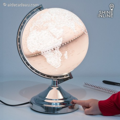 Lampe globe terrestre tactile