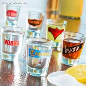 Lot de 6 verres au logo d'alcools spiritueux