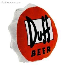 Coussin capsule de bière Duff Beer