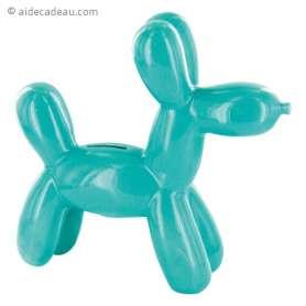 Tirelire chien XXL effet sculpté en ballon