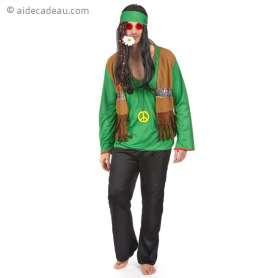 Costume représentant un homme hippie