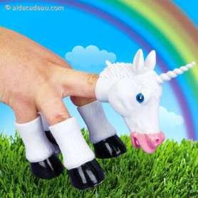 Marionnette Licorne pour les doigts