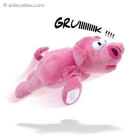 Cochon rose à catapulter