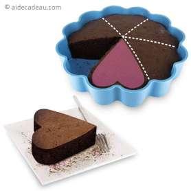 Moule à gâteaux fleur à 6 parts en forme de cœur