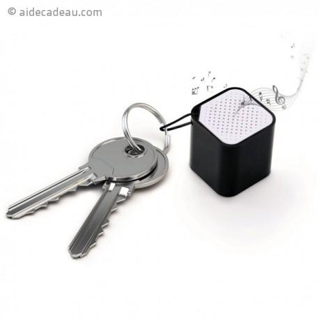 Enceinte miniature en forme de dé porte-clés