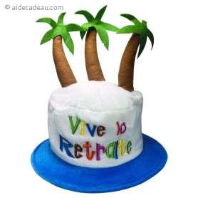 Chapeau de fête pour partir en retraite
