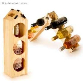Porte-bouteille en bois