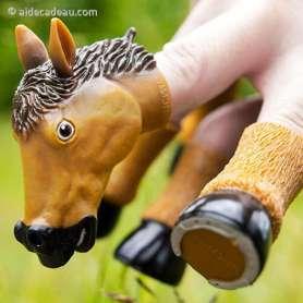 Marionnette cheval pour les doigts