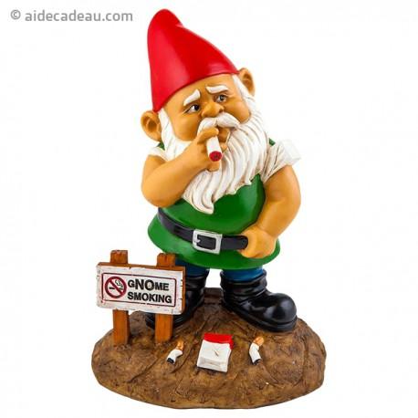 Nain de Jardin Gnome fumeur Smocking en résine
