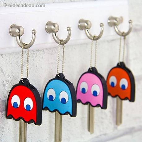 Cache-clés en forme de fantôme Pacman lot de 4