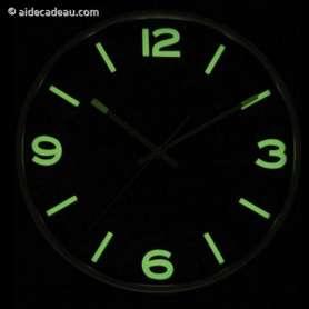 Horloge de forme arrondie phosphorescente lumineuse