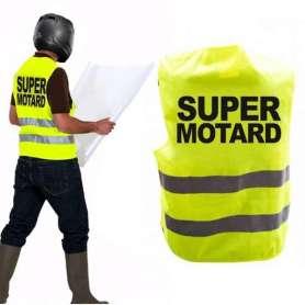 Gilet jaune fluorescent pour motard