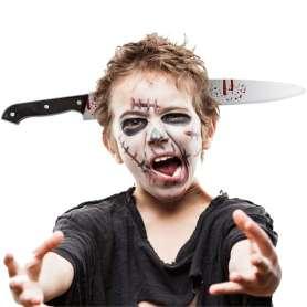 Serre-tête couteau transperçant la tête