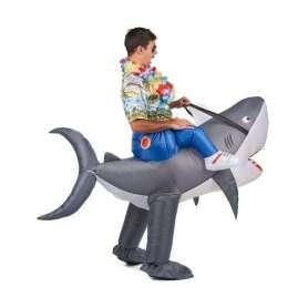 Déguisement à dos de requin gonflable