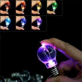 Porte-clés ampoule miniature multicolore