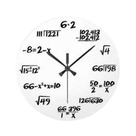 Horloge symboles mathématiques