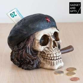 Tirelire tête de mort Che Guevara
