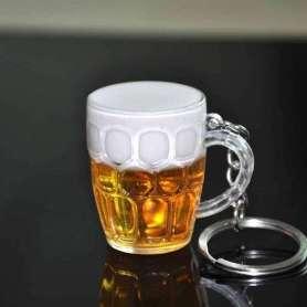 Porte-clés chope de bière mousseuse