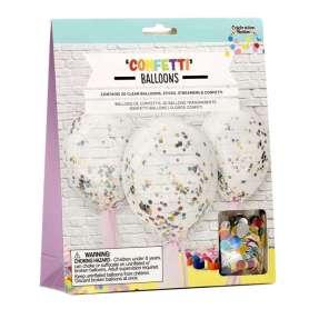 Ballons à remplir de confettis métallisés