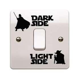 Sticker pour interrupteur Star Wars dark side, light side