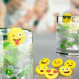 Marque-verres émojis (8 pièces)