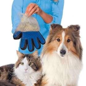 Gant massage et attrape poils chien et chat