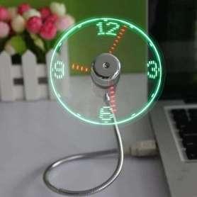 Ventilateur USB à horloge LED