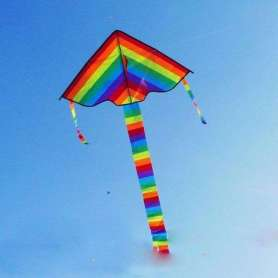 Cerf-volant arc-en-ciel avec sac de rangement