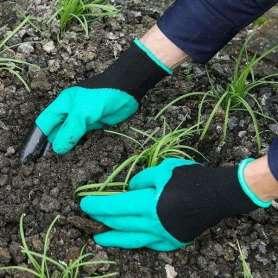 Gants de jardinage avec un gant avec 4 griffes