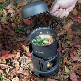 Kit réchaud à alcool et casseroles pour trekking