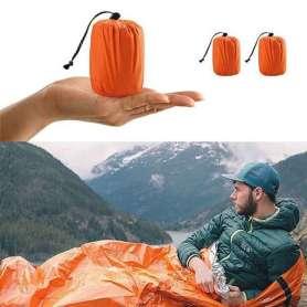 Sac de couchage thermique et waterproof avec housse de rangement