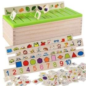 Jeu de tri et d'association formes et objets Montessori