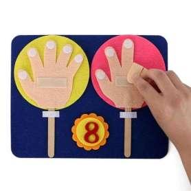 Mains à plier pour apprendre à compter