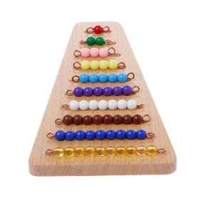 Pyramide de perles mathématiques Montessori