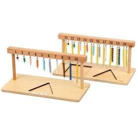 Perles suspendues pour mathématiques Montessori