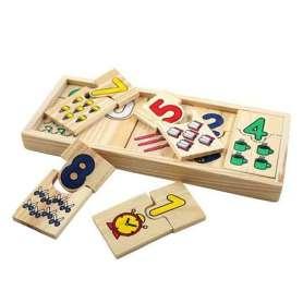 Puzzle en bois chiffres à associer Montessori