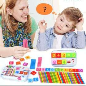 Coffret calcul chiffres et signes bâtonnets Montessori