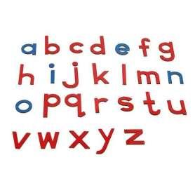 Lettres mobiles minuscules en bois Montessori