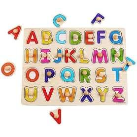 Puzzle lettres de l'alphabet avec poignées Montessori