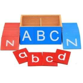 Coffret lettre de l'alphabet avec lettres rugueuses