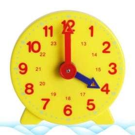 Horloge ludique sur pied pour apprentissage de l'heure